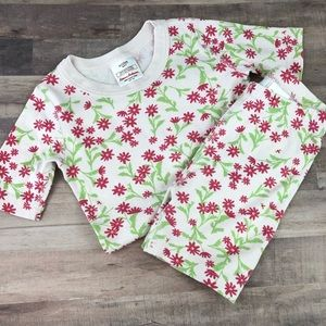 Size 120 HANNA ANDERSSON pink flower short johns